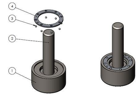 Ball Staking tool for Aerospace Bearings