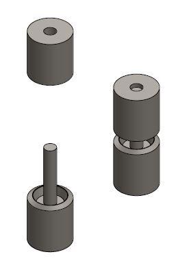 Anvil Staking tool for installing Aerospace Bearings