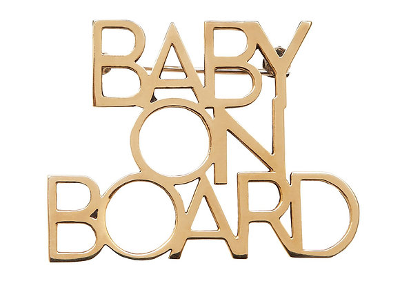 BABY ON BOARD BROOCH