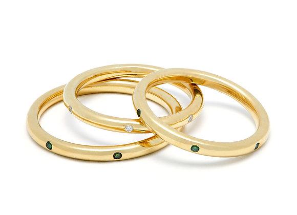 IL SPAGHETTO SOLITARIO RING | GOLD