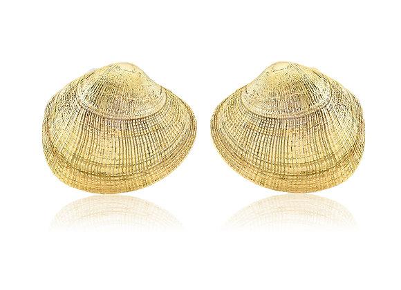 GOLD CLAM EARRINGS