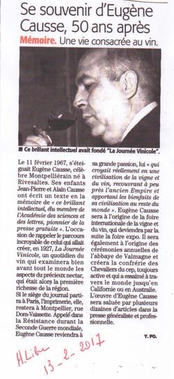 Hommage Eugène Causse