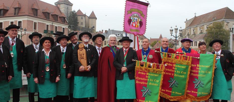 Ordre des Compagnons du Beaujolais Devoir Savoies-Leman... Un10ème anniversaire bien fêté !