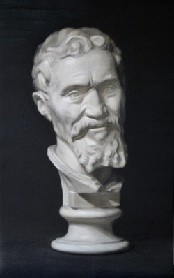 2nd cast oil painting in Grisaille