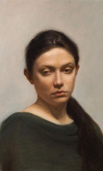 Sarah Hardy Art, Anastasia - Portrait in oils, Florence 2017.
