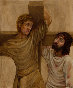 5 - Simon of Cyrene helps Jesus