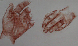 Sanguine hand studies