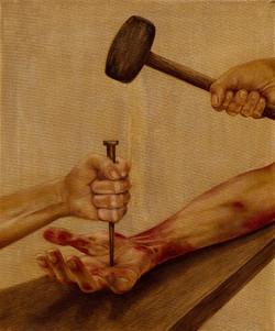 11 - Jesus is nailed to the cross