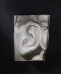 First cast oil painting in Grisaille