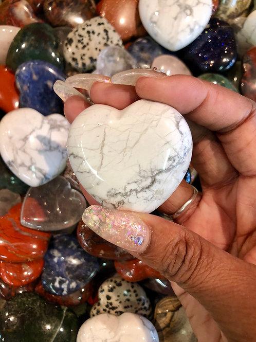 Howlite Heart- Small