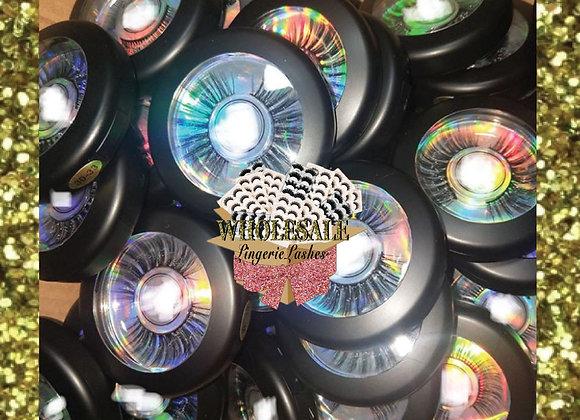 Wholesale | Plastic Round Compact - BLK 5pcs