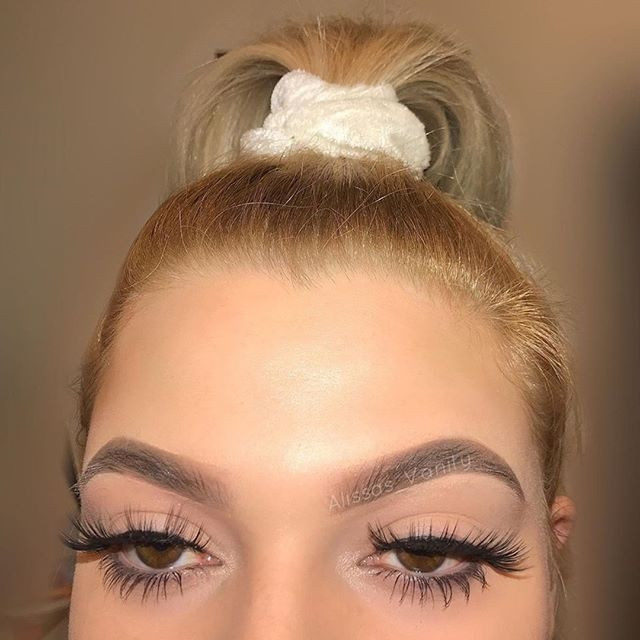 Put your hair up & Some Lash'sets on . N