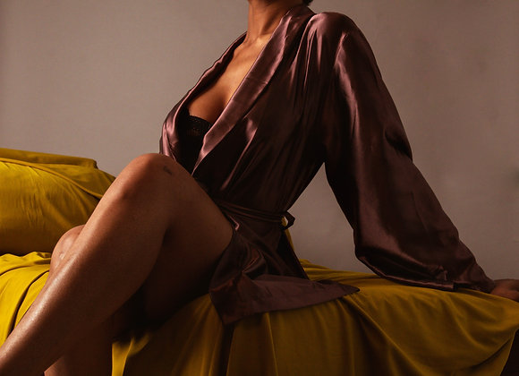 "Lingerie Lashes®| ""Sitting Sassy"" Satin Robe"