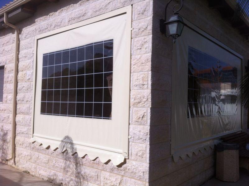 וילונות מתקפלים חלון שקוף