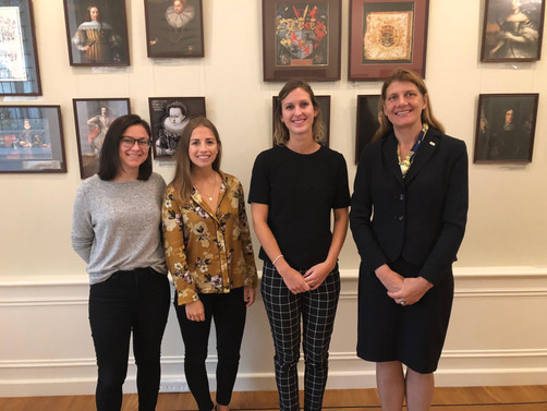 H.E. Ilse Ruze, Ambassador of Latvia to The Netherlands with the team of Frank Creations at the Embassy of Latvia after discussions on Gender Equality and bilateral affairs.