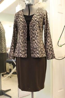Career knit cardigan and skirt