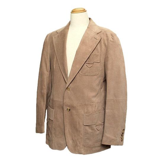 グッチ メンズ ジャケット レザー スエード ピッグスキン ベージュ サイズ54 GUCCI