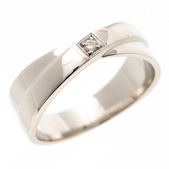 指輪 ダイヤ リング プラチナ 0.03ct Pt900 サムシングブルー