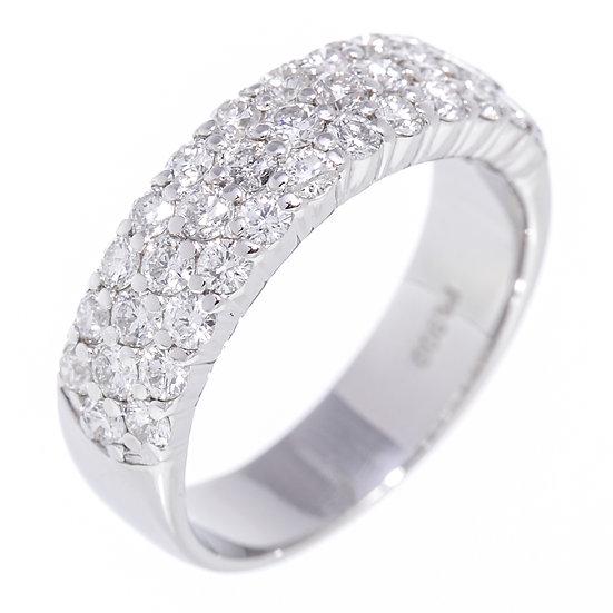 指輪 ダイヤ リング パヴェ Pt900 D1.0ct 9号