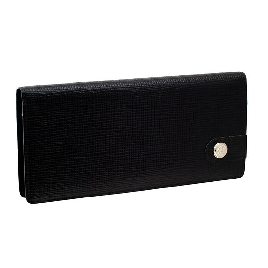 フィリップ シャリオール 長財布 型押しレザー ブラック PHILIPPE CHARRIOL