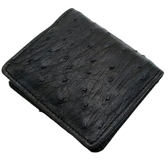 小銭入れ コインケース メンズ オーストリッチ ボックス型 四方開き 黒