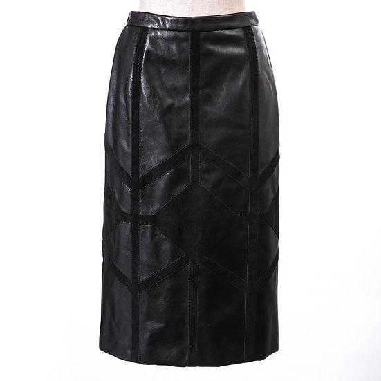 GRACE CONTINENTALレザースカートブラック