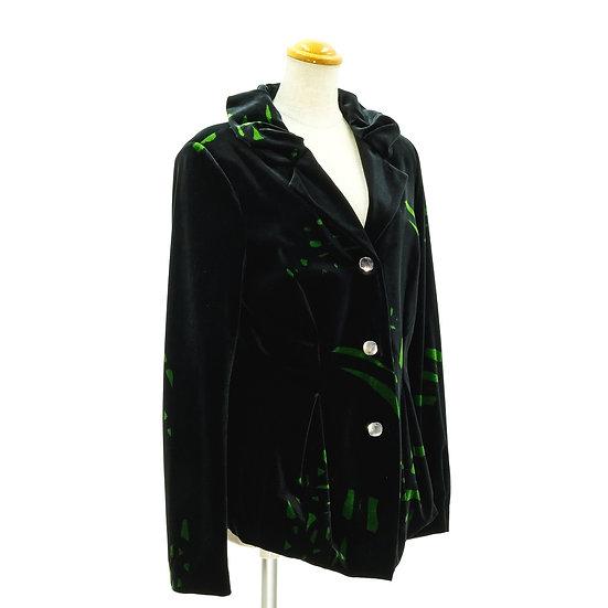 ディディエパラキアン ジャケット レディース ベロア サイズ42 ブラック(黒) DIDIER PARAKIAN