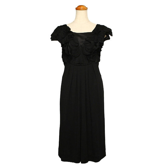 アルベルタ・フェレッティ ワンピース ドレス インナー付き ブラック サイズ38 ALBERTA FERRETTI