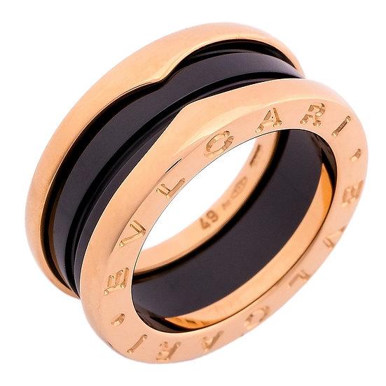 ブルガリ 指輪 ビーゼロワン 3バンド リング AN855962 B-zero1 K18PG BVLGARI