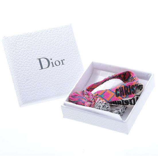 """Christian Dior(クリスチャンディオール) """"J'ADIOR"""" コットンブレスレット ブレスレット ミサンガ コットン 101221"""