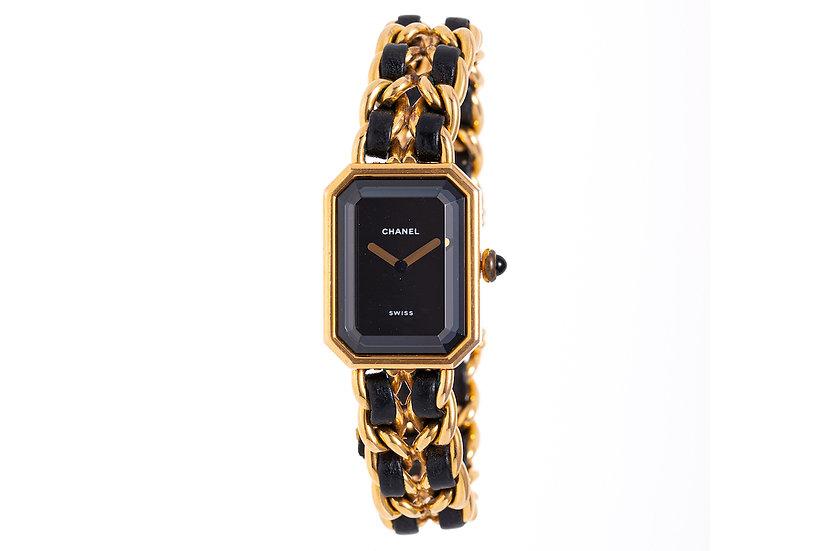 シャネル プルミエール L レディース腕時計 ゴールド×ブラック CHANEL