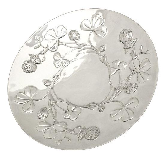 クリストフル シルバープレート 皿 フラワーモチーフ Christofle