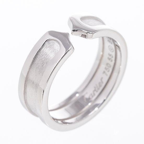 カルティエ 指輪 C2リング ホワイトゴールド K18WG #55 Cartier