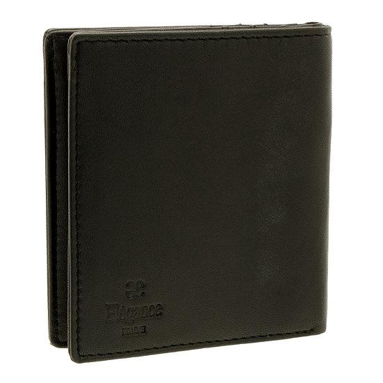 エレガンス 財布 メンズ 二つ折り シープ革 小銭入れ付き ブラック 黒 Elegance