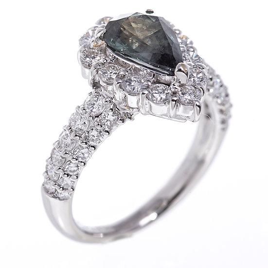 指輪 リング アレキサンドライト 1.602ct プラチナ Pt900 メレダイヤ1.48ct