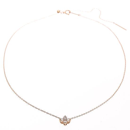 ヨンドシー プレジェンス K18 ネックレス ペンダント ジュエリー レディース 花モチーフ 4℃