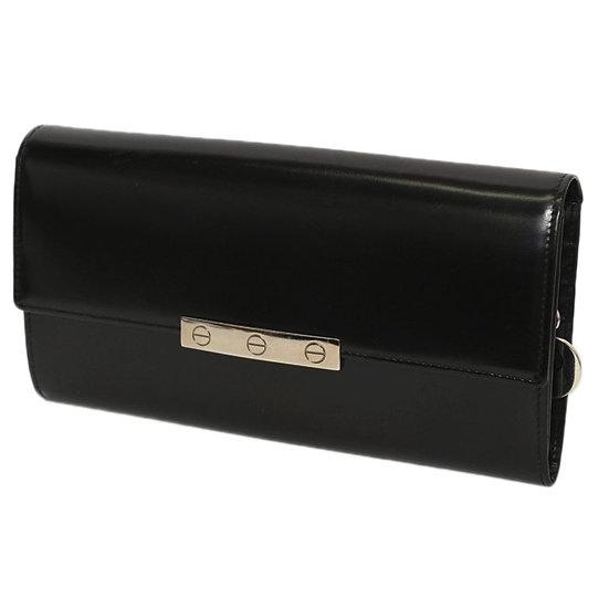 カルティエ 長財布 L3000742 ラブコレクション ビスモチーフ カーフ ブラック チャーム付 CARTIER