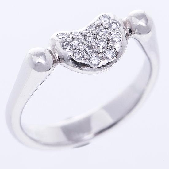 ティファニー ビーン リング 指輪 ダイヤ リング プラチナ TIFFANY&Co.
