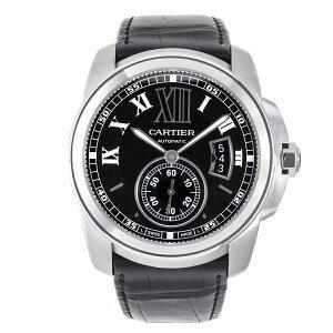 【値下げしました】カルティエ 時計 メンズ カリブル・ドゥ・カルティエ W7100041 SS 革ベルト新品 自動巻 コンプリート済 Cartier
