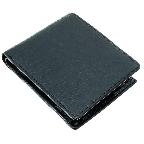 マレリー 財布 メンズ 二つ折り ブラック×チョコブラウン Marelli