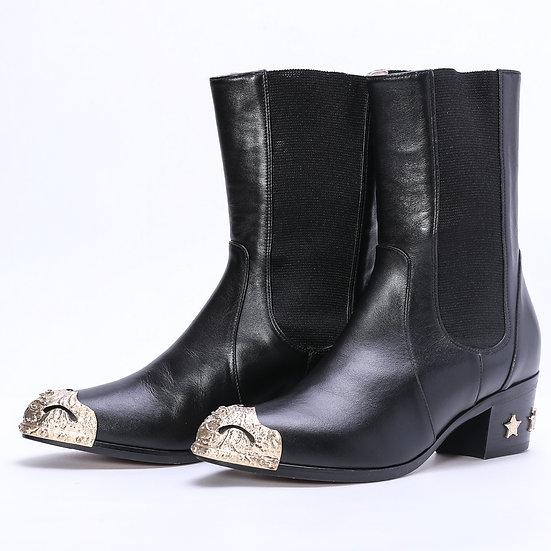 シャネル パリダラスコレクション ブーツ ブラック 黒 サイズ37 G30046 CHANEL