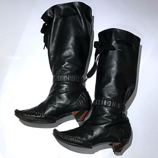 ジョルジーナ・グッドマン ブーツ ロング サイズ35 1/2 ブラック GEORGINA GOODMAN
