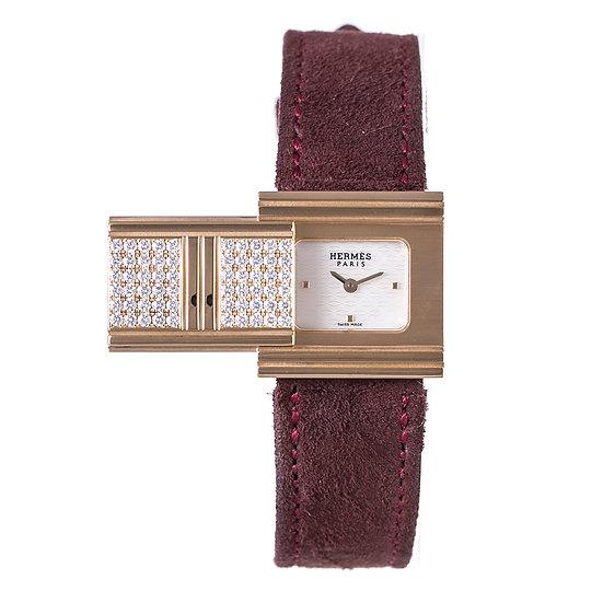 エルメス 時計 レディース グリザード GL1.286 ダイヤ K18YG 文字盤シェル HERMES