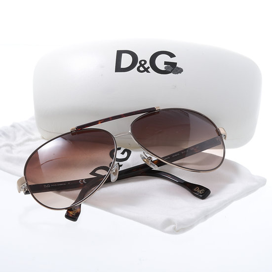 D&G ドルチェ&ガッバーナ サングラス べっ甲 ケース難あり 101227