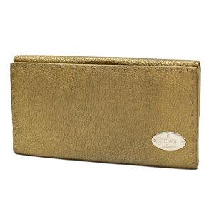 【値下げしました】フェンディ 長財布 セレリア レザー ヴィンテージゴールド FENDI