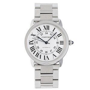 【値下げしました】カルティエ 時計 メンズ ロンドソロXL W6701011 自動巻き SS シルバー文字盤 Cartier