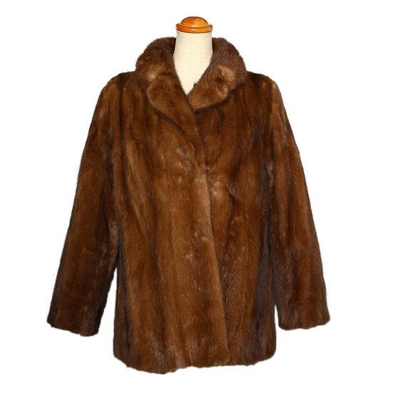 【期間限定大幅値下】毛皮 コート サガミンク ハーフ サイズ13 ブラウン 訳あり