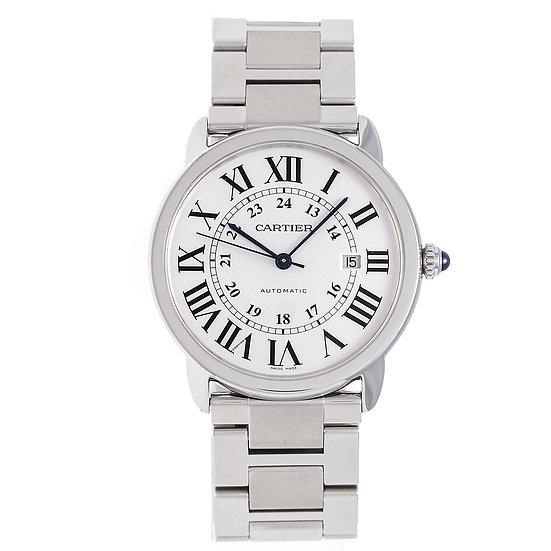 カルティエ 時計 メンズ ロンドソロXL W6701011 自動巻き SS シルバー文字盤 Cartier