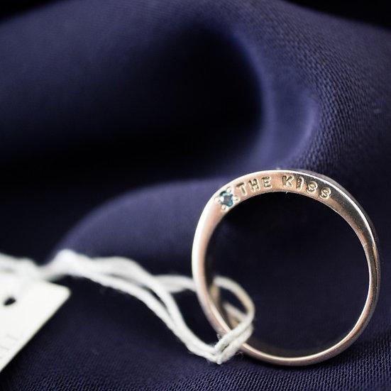 ザ・キッス 指輪 レディース リング ピンクシルバー ブルーダイヤ THE KISS #9