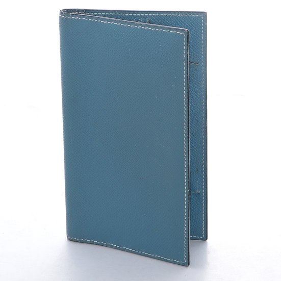 エルメス アジェンダ 手帳カバー ノートカバー F刻印 ブルー系 HERMES USED